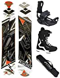 Airtracks Snowboard Set - TAVOLA Line Wide 154 - ATTACCHI Master - Softboots Strong 43 - S...