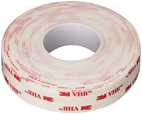 3M VHB 4950 Heavy Duty Mounting Tape - 0.75 in. x 15 ft. Permanent Bonding Tape Roll with Acrylic Foam Core. Tapes and Adhesives