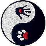 Parche termoadhesivo para la ropa, diseño de Perro y humano Ying Yang