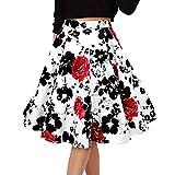 Falda De Verano para Mujer Moda De Verano Falda para Ropa de Fiesta Niñas Vintage Falda Elegante De Playa Faldas Casuales Faldas Plisadas Vintage Faldas De Lunares De Lunares De Rockabilly Falda De