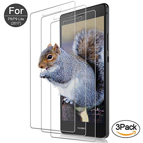 [3-Pack] Vetro Temperato Huawei P8 Lite 2017/P9 Lite 2017 Pellicola Protettiva Vanzon® in Vetro Temperato Screen Protector Film Ultra Resistente...