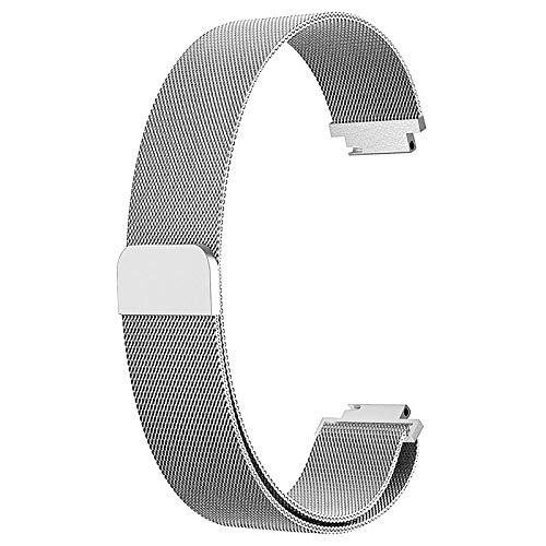 YFC Nueva Correa de Pulsera Compatible con Fitbit Inspire 2 Smart Watch Banda de Malla de Acero Inoxidable Banda de Repuesto (Color : Plata, Tamaño : S)
