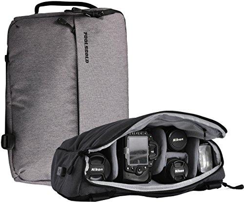 FoolsGold ibrido professionale SLR Fotocamera zaino borsa borsa con USB in grigio scuro