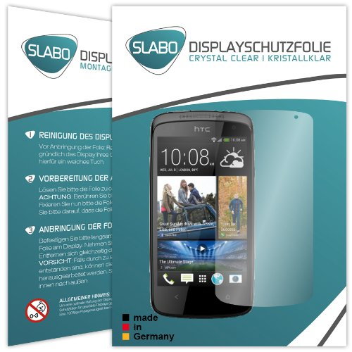 2 x Slabo Bildschirmschutzfolie HTC Desire 500 Bildschirmschutz Schutzfolie Folie