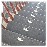 JQAM 3 Pack di gradini per Scale in Moquette Luminosa, Tappeto Antiscivolo per Presa e Bellezza, Antiscivolo di Sicurezza con Adesivo Riutilizzabile per Bambini, Anziani e Cani