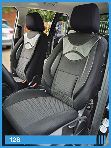 Maß Sitzbezüge kompatibel mit Mercedes B-Klasse W245 Fahrer & Beifahrer ab FB:128