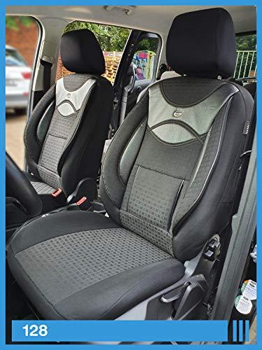 Maß Sitzbezüge kompatibel mit Renault Captur 2 Fahrer & Beifahrer ab 2019 FB:128