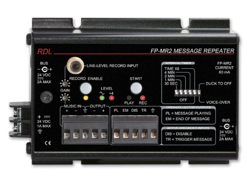 Best Prices! RDL FP-MR2 Message Repeater, 20 Hz to 100 kHz Frequency Response, Automatic Voice Over ...