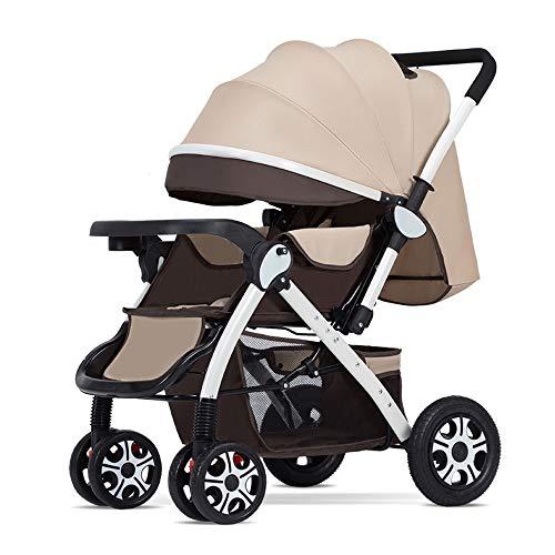 GWX Baby Carriage, 3-in-1 kinderwagen lichtgewicht vouwwagen, hoog landschap, schokabsorptie bescherming, (per vliegtuig en trein) reizen, voor baby