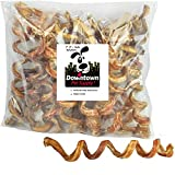 Downtown Pet Supply 7' - 9' Curly Spiral Bully Sticks, Bully Springs...