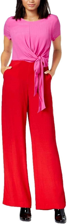 Maison Jules colorblocked TieFront Jumpsuit (Ablaze, Size 4)