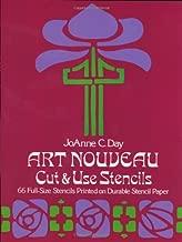 Art Nouveau Cut & Use Stencils: 66 Full-Size Stencils Printed on Durable Stencil Paper
