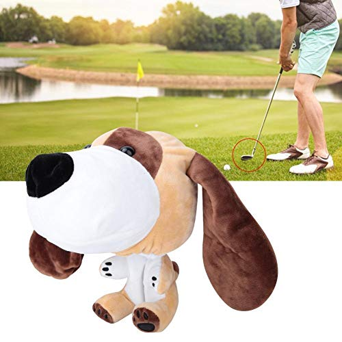 Club Head Cover - Plüsch Stoffe Cartoon Yellow Dog Muster Golf Putters Kopfabdeckungen Headcovers for 460cc Club