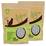 Goofy Tails Cat Litter Low Tracking and Eco-Friendly 100% Recycled Paper Cat Litter | Ultra Absorption 6L (2 Packs x 3 L Packs) Litter for Cats/Kitten