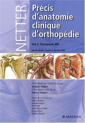 Précis d'anatomie orthopédique de Netter