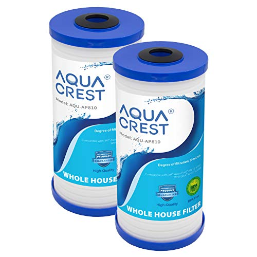 AQUACREST AP810 Whole House Water Filter, Compatible with 3M Aqua-Pure AP810, AP801, AP811, Whirlpool WHKF-GD25BB, Pack of 2