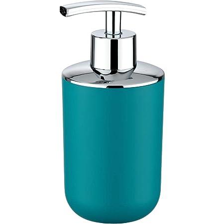 Wenko 21224100 Distributeur de Savon Brasil Bleu pétrole, Plastique, Turquoise, 9 x 7,3 x 16,5 cm