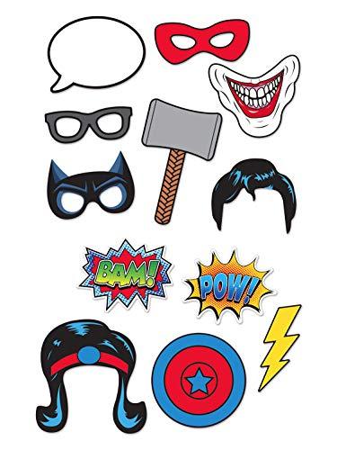 Generique - Kit photocall 12 Unidades superhéroes