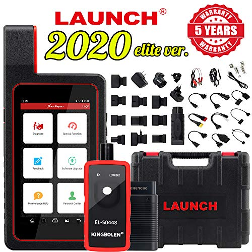 LAUNCH X431 DIAGUN V Bi-Directional Scan Tool Automotive Scanner for Full System Diagnoses with ECU Coding,Actuation Test,20 Reset Functions,Free Update + El-50448 Tool-Advanced Ver. of X431 DIAGUN IV