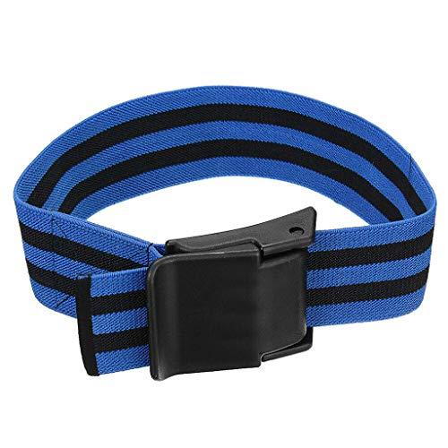 QIjinlook Venenstauer fördern Starkes Elastikband Sport-Muskeltraining Blutflussbeschränkung Training Knieverpackung das schnellere Wachstum schlanker Muskeln ohne schwere Gewichte (Blau)