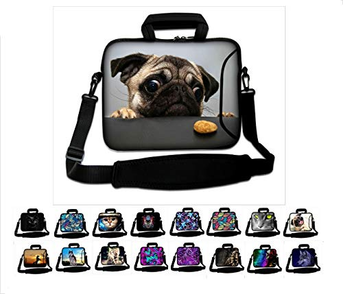"""15""""-15.6' inch Shoulder Laptop Sleeve Case Bag Pouch Protective Skin Cover With Handle by Funky Planet Bag Cases"""