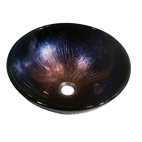 Dawn GVB86167 Tempered Glass, Hand-Painted Glass Vessel...