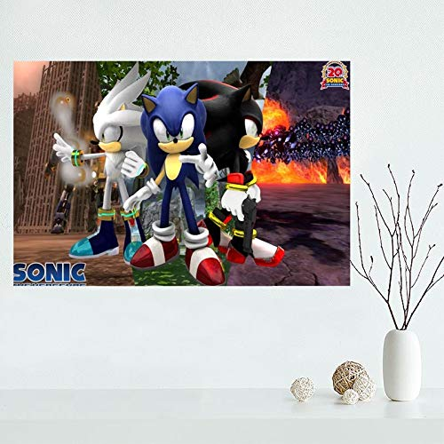 UHvEZ 1000pcs_Wooden Puzzles_Nice Anime Sonic_Animated Puzzles_Hobby Games Adult Children Challenge Art Toys_50x75cm