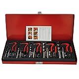 CCLIFE 131 pezzi Set di maschi per la riparazione di fielttature, inserti M5, M6, M8, M10, M12, manicotto filettato