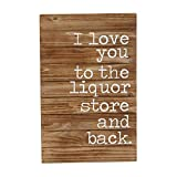 Mud Pie Planked Wood Liquor Store and Back Wall Plaque