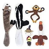 Interaktives Hundespielzeug Set Quitschend Plüschtier – Quitsche Spielzeug für Hunde, 5 Stücke...