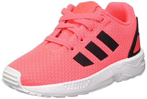 adidas Unisex-Kinder ZX Flux I Sneaker, Rosa (Flared/Cblack/Ftwwht), 19 EU