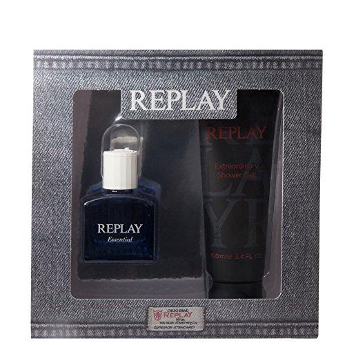 Replay Essential Geschenkset für Ihn (EdT Spray 30ml + Duschgel 100ml)