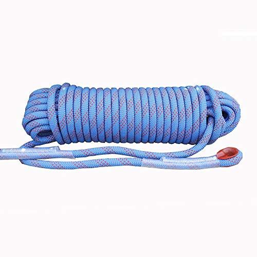 Corde de sécurité multifonctionnelle Extérieur Escalade corde avec mousquetons Arbre matériel d'escalade Activités de plein air for 10MM 20MM (bleu) Heavy Duty Mountain Equipment pour Randonnée Alpini