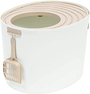 IRIS Top Entry Cat Litter Box with Cat Litter Scoop Medium 588066