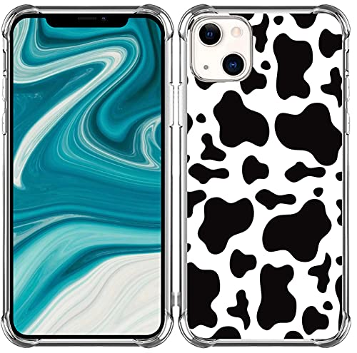 Cow Case for iPhone 13 Cow Print Protective - [Heavy Duty Protection Slim Fit with Design] Bumper Compatible with iPhone 13 [Cute Lovely Cow Pattern]