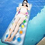 kioski Inflatable Float Hammock, Pool Float Lounger, 67Inch Inflatable Swimming Floating Bed Hammock, Loating Row Pool Float for Pool Portable Swimming Pool Beach Mat for Kids Adults