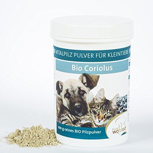 Coriolus Bio Vitalpilz Pulver für Hunde, Katzen und Kleintiere 100g