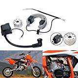 FLYPIG Stator Rotor Ignition Coil Stator Rotor Kit Fit for KTM50 SX L/C 50SX PRO Junior Mini Adventure Senior PRO Pro Sr Jr New Stator Rotor & Ignition Coil Flywheel