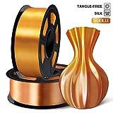 SUNLU 3D Filament 1.75, Shiny Silk PLA Filament 1.75mm, 2KG PLA...