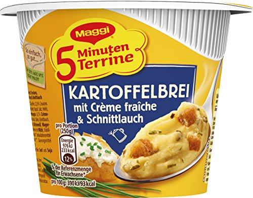Maggi 5 Minuten Terrine Kartoffelbrei mit Crème fraîche und Schnittlauch, 53 g