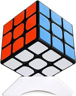 OJIN Shengshou Mr.M 3x3 Gem Baoshi Cube Puzzle Rompicapo Twist Puzzle Sticker con Un cubo treppiede(Nero)