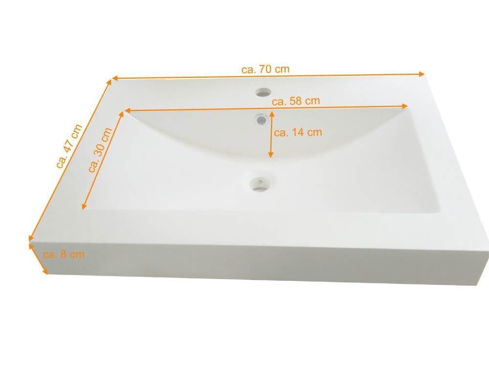 SAM® – Set de muebles de baño de 5 piezas, Parma, color negro ...