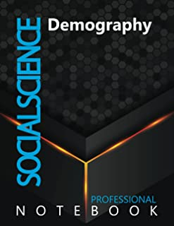 """Social Science, Demography Ruled Notebook, Professional Notebook, Writing Journal, Daily Notes, Large 8.5"""" x 11"""" size, 108..."""