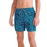 Superdry Beach Volley AOP Swim Short Pantalones Cortos, Azul (Animal Print Hawaii Blue 0zb), L para Hombre