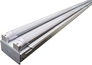 Orilis 8' LED Shop Light- Commercial Grade LED High Output 4 Light T8 Fixture (4) 4 Ft Single Ended LED Tubes 5000K (Daylight)- DLC and UL Listed (Replaces 256W Fluorescent Fixture)