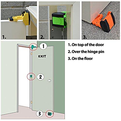 Wedge-It - The Ultimate Door Stop - Black - TWO PACK
