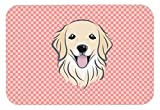 Caroline's Treasures Checkerboard Pink Golden Retriever Mouse Pad/Hot Pad/Trivet (BB1205MP)
