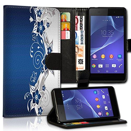 wicostar Wallet Book Style Flip Handy Tasche Hülle Schutz Hülle Schale Motiv Etui für LG L Bello - Variante UMV28 Design1