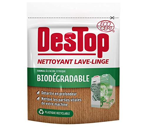 Destop - Limpiador para lavadora, fórmula biodegradable, 250 g, color blanco