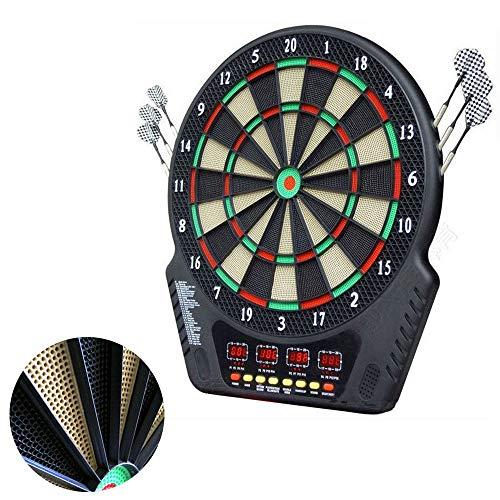 GNSDA Elektronische Dartscheibe in Turnierqualität, mit Mensch-Maschine-Kampffunktion, 6 Darts gratis, 24 Darts-Kopf, verbesserter Haltbarkeit und Spielbarkeit, 243 Spielmöglichkeiten